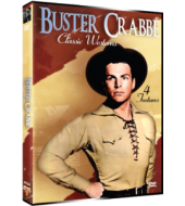 BUSTER CRABBE CLASSIC WESTERNS - Four Feature