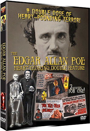 EDGAR ALLAN POE – HEART-QUAKING DOUBLE FEATURE